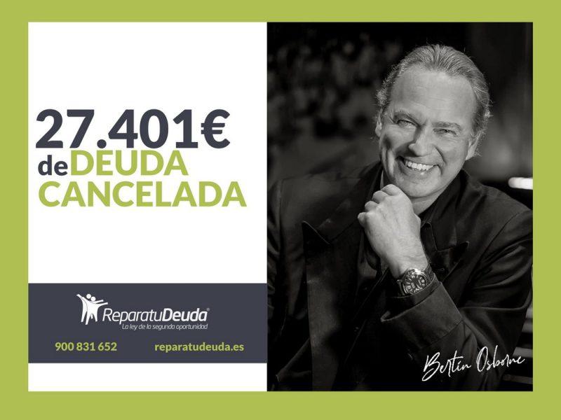 Repara tu Deuda cancela 27.401 ? en Palma de Mallorca (Baleares) con la Ley de Segunda Oportunidad