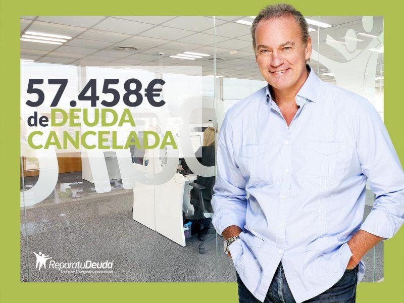 Repara tu Deuda Abogados cancela 57.458? en Fuenlabrada (Madrid) gracias a la Ley de Segunda Oportunidad