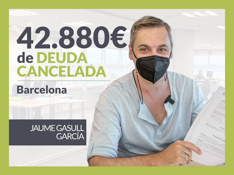 Repara tu Deuda Abogados cancela 42.880? en Barcelona (Catalunya) con la Ley de Segunda Oportunidad