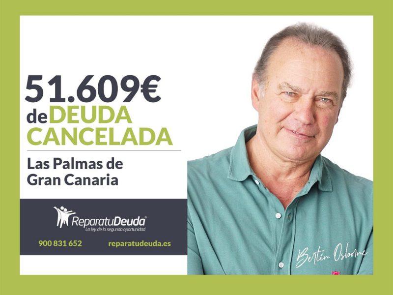 Repara tu Deuda abogados cancela 51.609? en Las Palmas de Gran Canaria con la Ley de Segunda Oportunidad