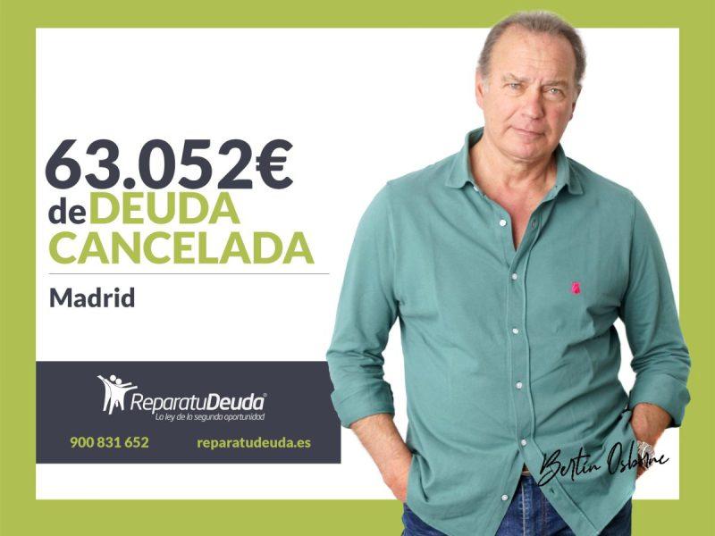 Repara tu Deuda Abogados cancela 63.052? en Madrid gracias a la Ley de Segunda Oportunidad