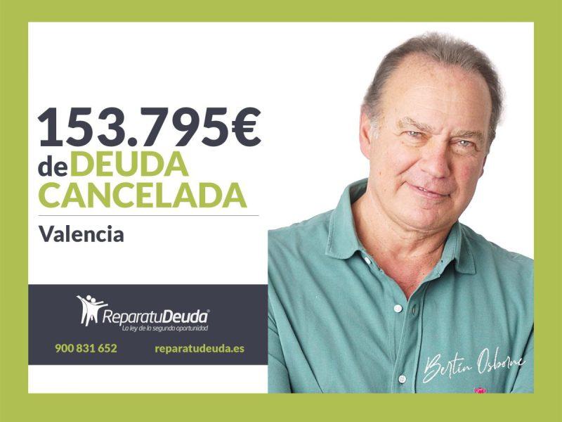 Repara tu Deuda Abogados cancela 153.795? en Valencia con la Ley de Segunda Oportunidad