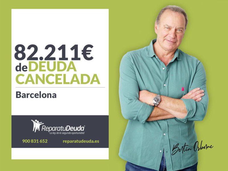 Repara tu Deuda Abogados cancela 82.211 ? en Barcelona (Catalunya) con la Ley de la Segunda Oportunidad