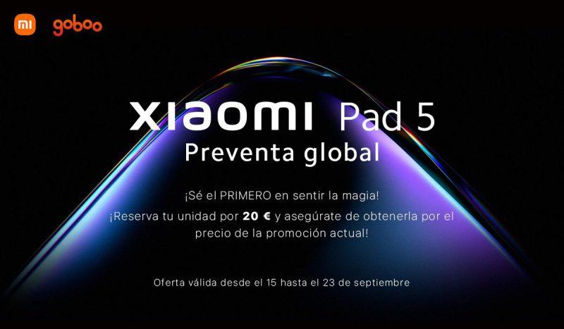 Xiaomi Pad 5 debuta a nivel internacional con una preventa en exclusiva en Goboo