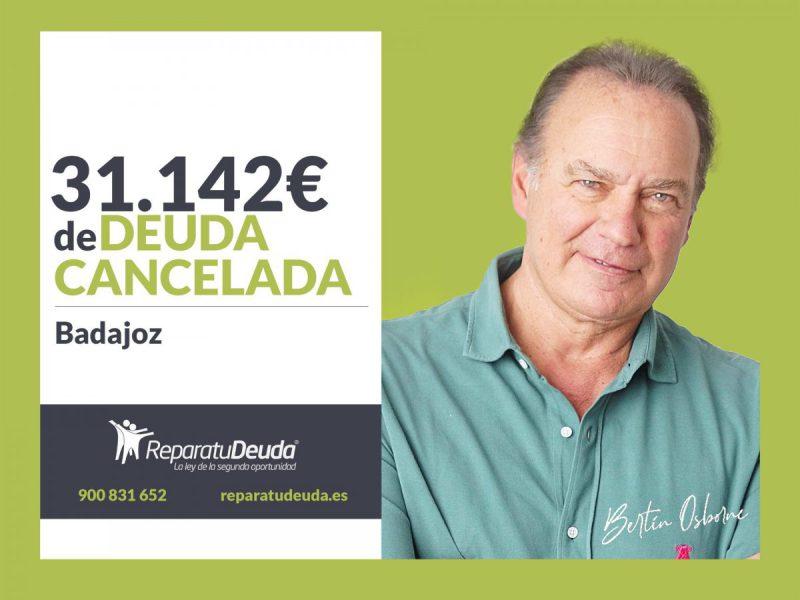Repara tu Deuda Abogados cancela 31.142? en Badajoz (Extremadura) con la Ley de Segunda Oportunidad