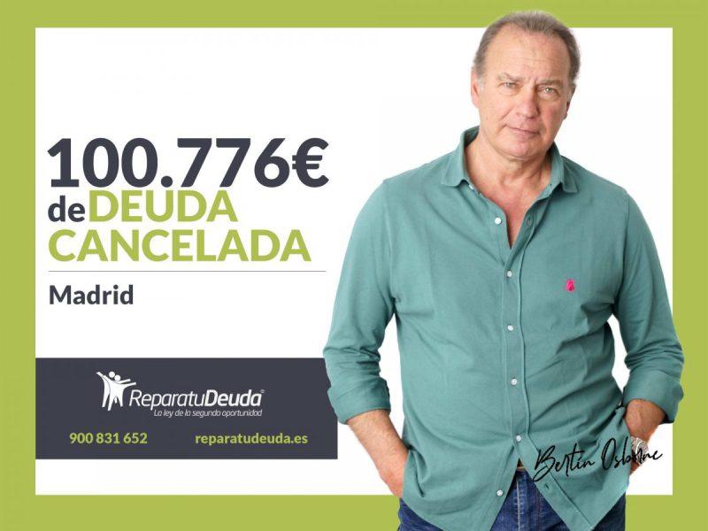 Repara tu Deuda Abogados cancela 100.776? a un matrimonio de Madrid con la Ley de Segunda Oportunidad