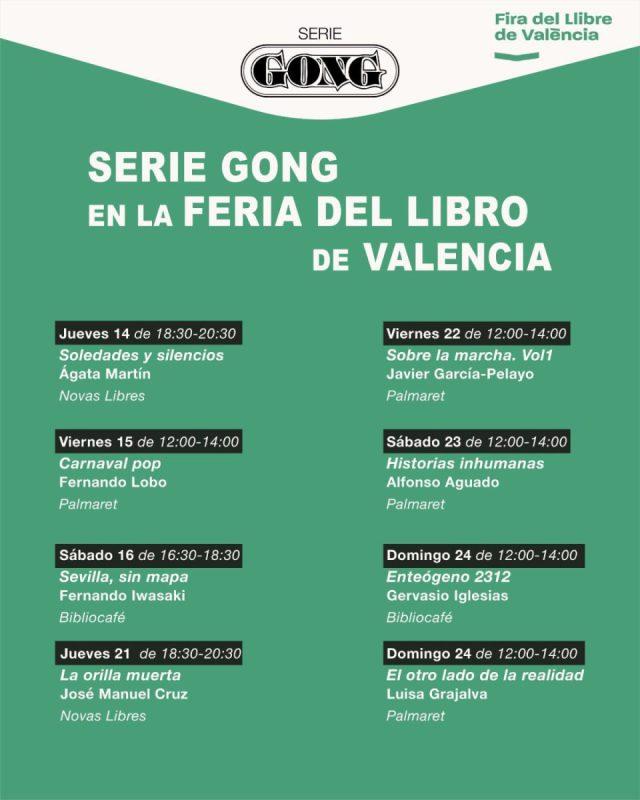 Ocho autores de Serie Gong firman ejemplares en la Feria del Libro de Valencia